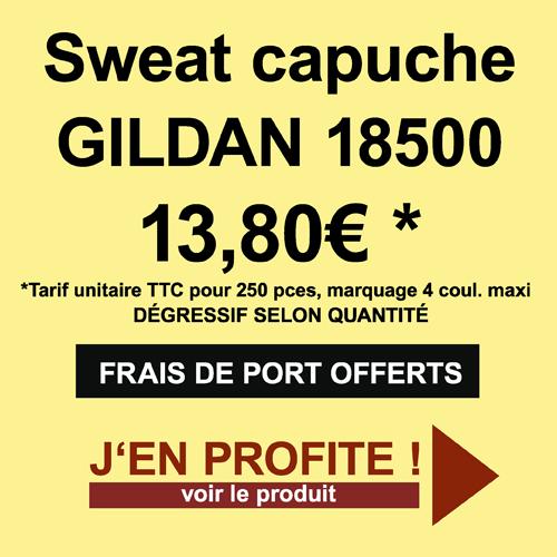 Promo sweats GILDAN 18500