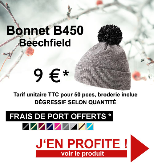 Promo bonnets B450 brodés